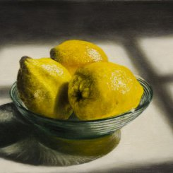 LEMON AND GLASS BOWL